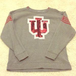 PINK Indiana Hoosiers Crew Sweatshirt